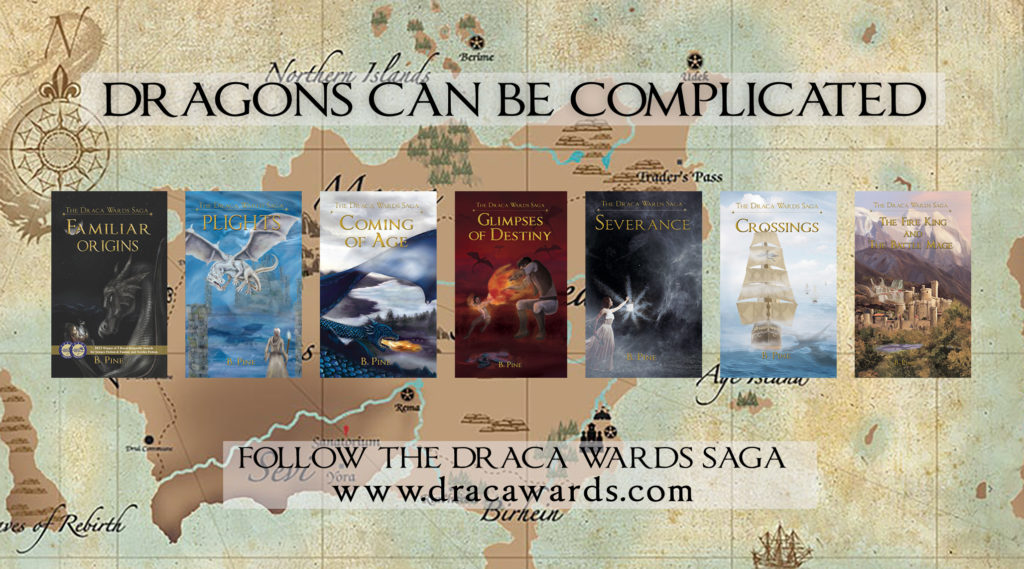 All 7 books of the Draca Wards Saga
